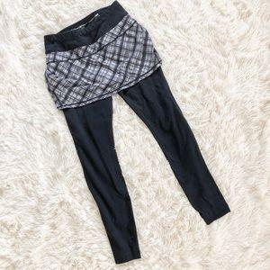 Athleta Plaid Skapri Skirt Pants